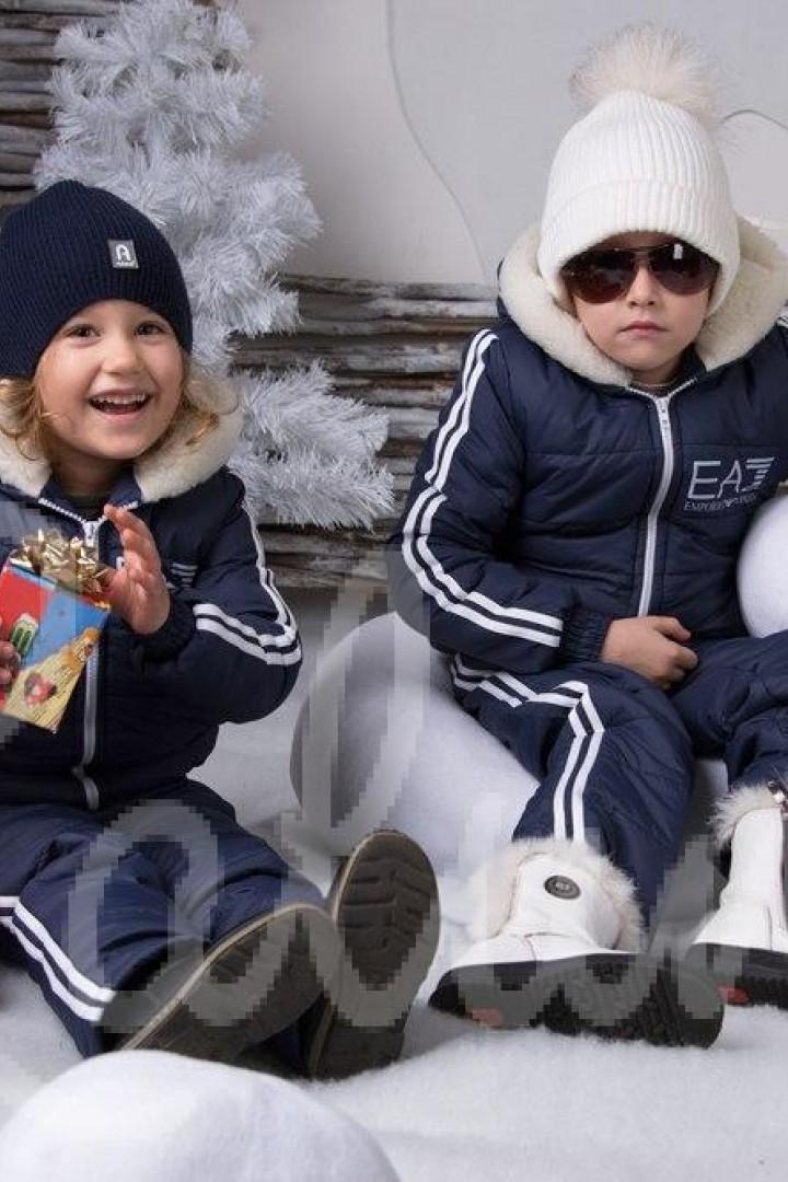 Детский костюм с мехом EV-988