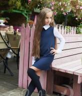 Красивое школьное платье KL-243