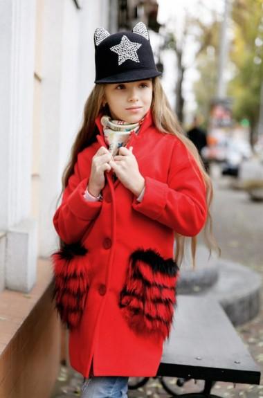 Кашемировое пальто для девочки KL-250