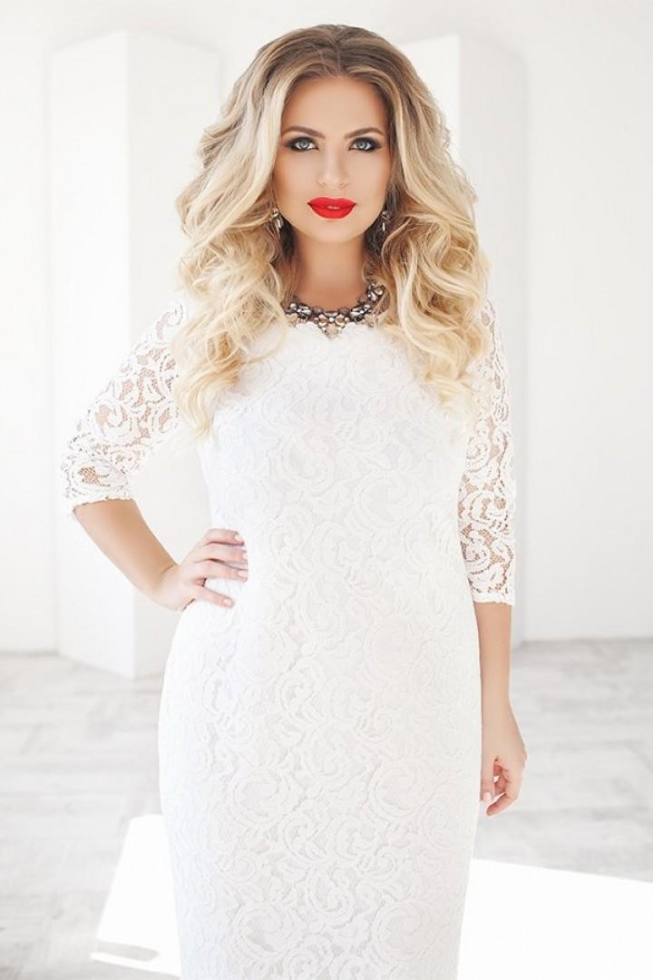 Платье прямое рукав три четверти PRA-1099A20