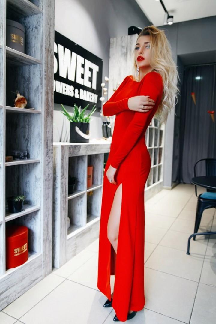 Платье с открытой спиной KL-253