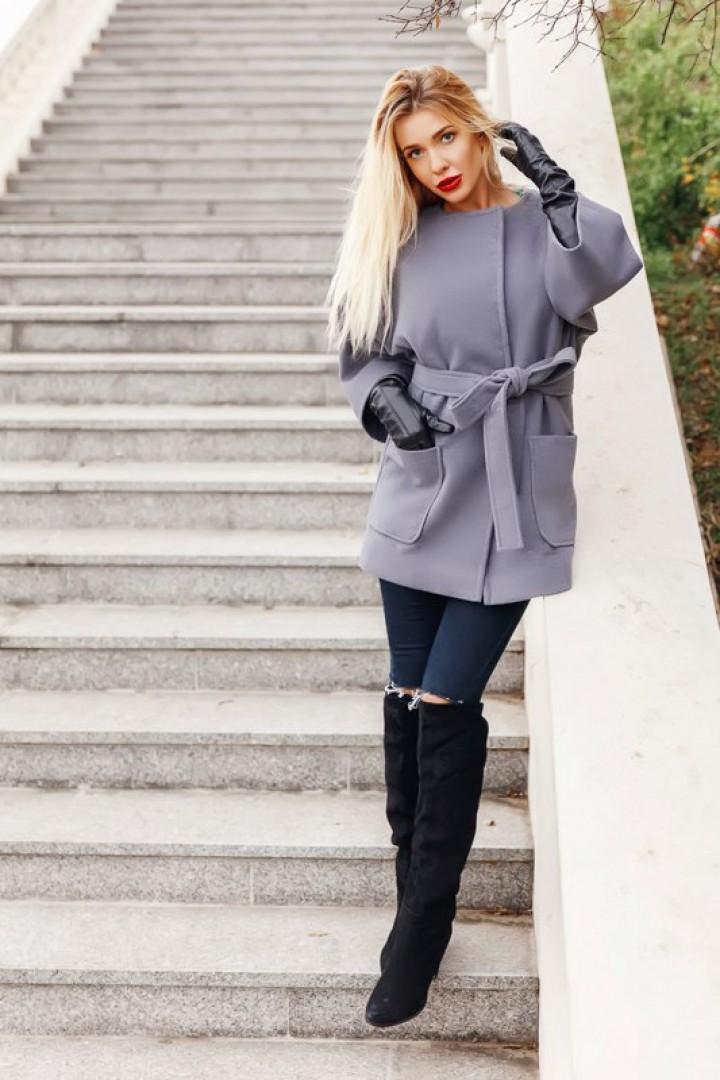 Короткое кашемировое пальто KL-248