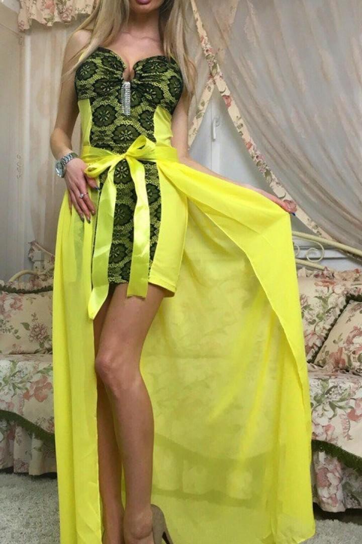 Платье со съемной юбкой KO-038