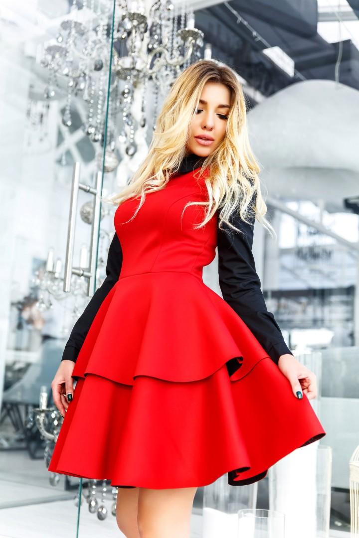 Короткое женское платье KL-258