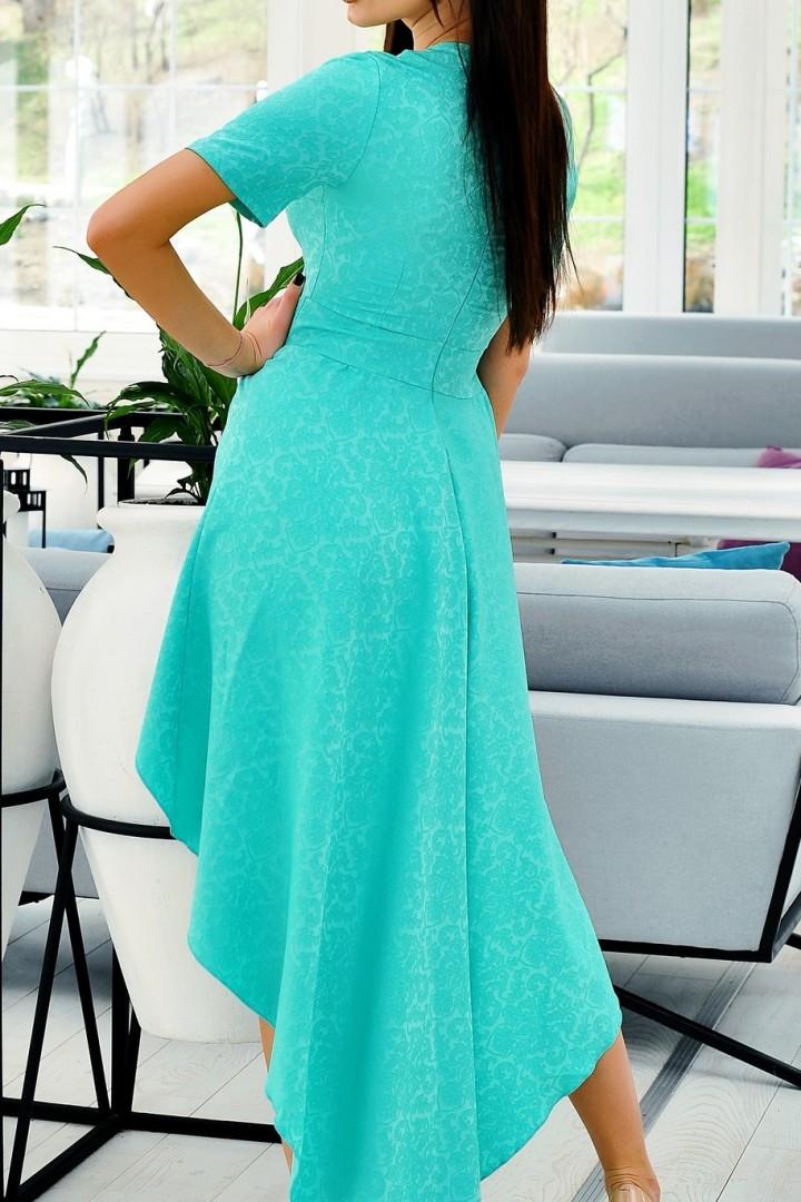 Длинное платье со шлейфом VCL-723