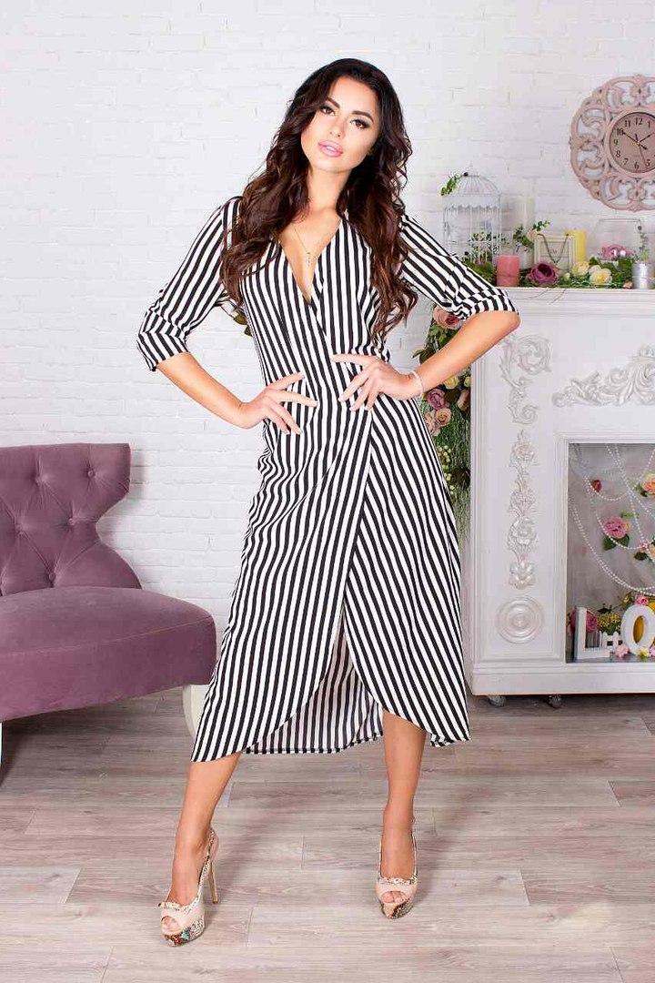 Платье в полоску ISH-0021