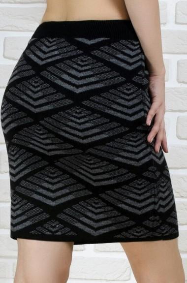 Короткая юбка с узором KN-262036