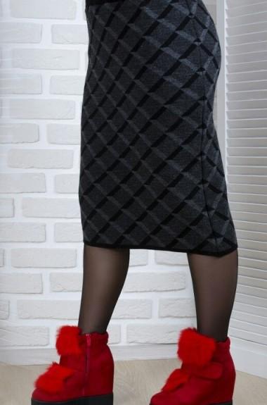 Шерстяная миди юбка KN-0038A250