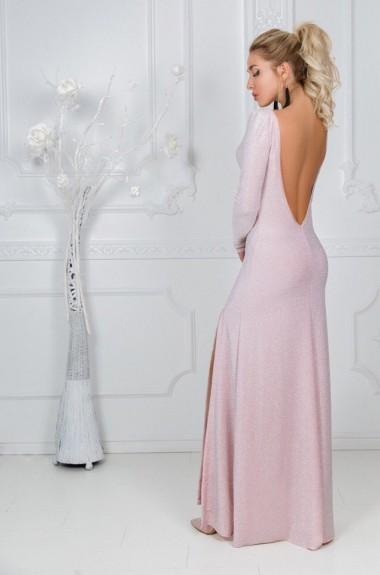 Платье в пол с разрезом KL-310