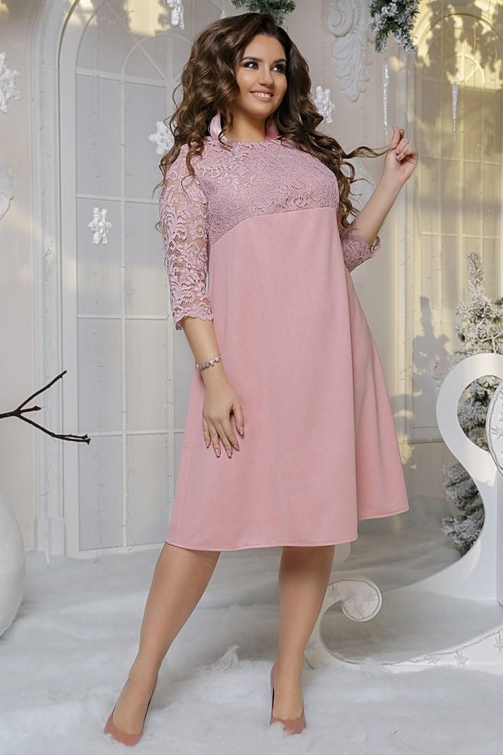 Гипюровое платье большого размера LZ-266