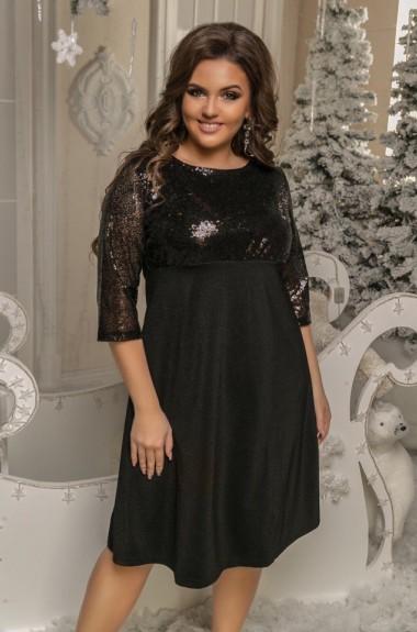 Новогоднее платье с пайетками NS-038