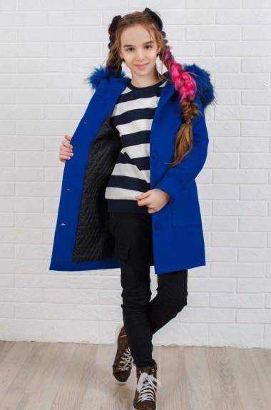 Детское пальто с капюшоном KL-333