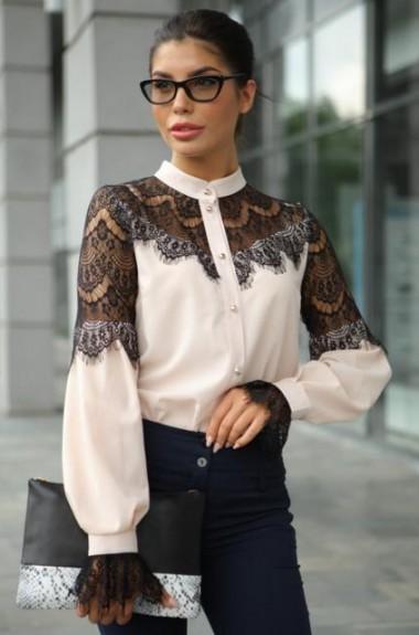 Блузка с красивыми рукавами MO-856