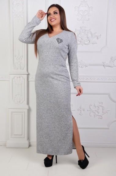 Платье в пол с украшением OLI-231
