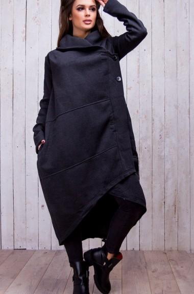 Асимметричное пальто SA-015