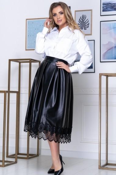 Кожаная юбка с блузкой YM-232.264A27B29