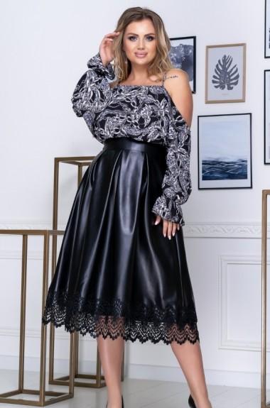 Модный костюм с юбкой YM-0261.0263A30