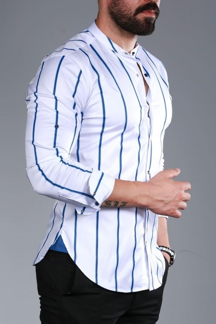 Рубашка в тонкую полоску RT-0149318A400