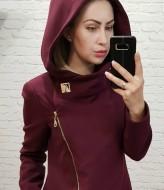 Кашемировое пальто с капюшоном женское EMR-136