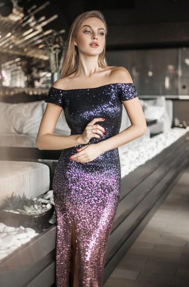 Вечернее платье с пайетками YM-5080A27B28