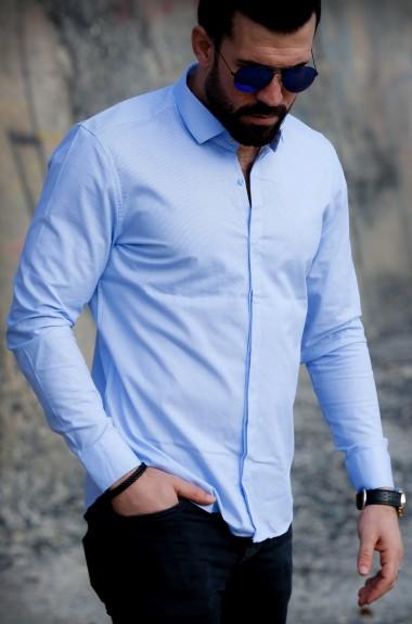 Рубашка голубая в полоску RT-2366301A400