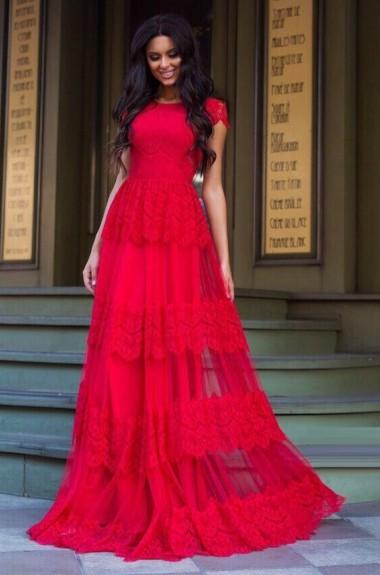 Вечернее платье из кружева VK-H384