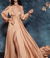 Шелковое платье в пол VK-H390