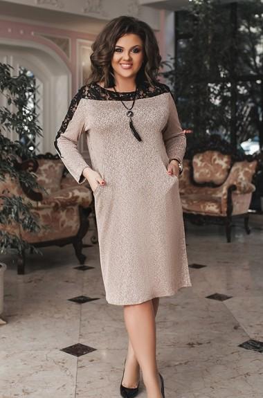 Красивое платье с гипюром LZ-390