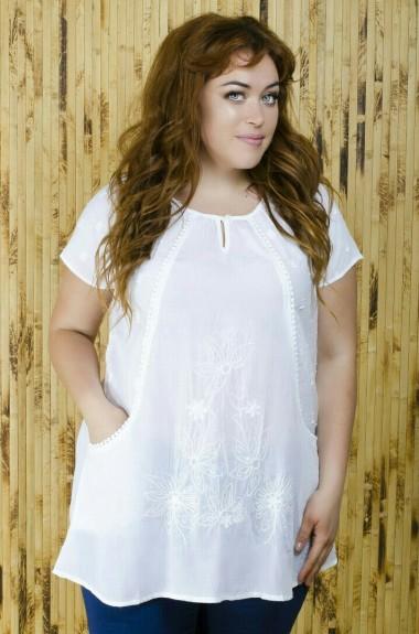 Белая женская туника IND-1714491
