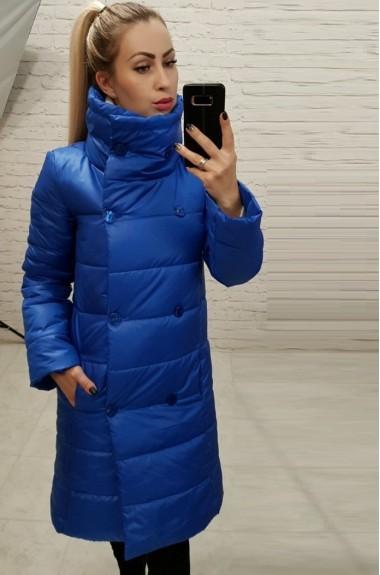 Женское плащевое пальто на синтепоне EMR-1002