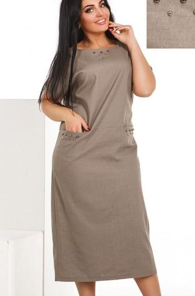 Льняное прямое платье DG-at236