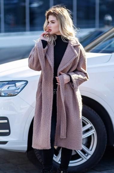 Букле пальто женское LIA-020320A25