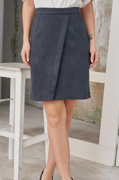 Замшевая юбка с запахом SD-267A12