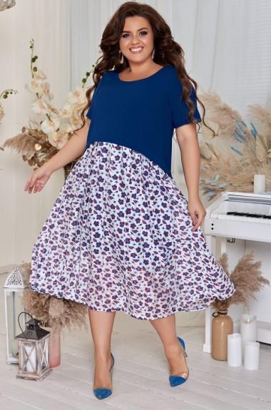 Красиво комбинированное платье AO-2005A450