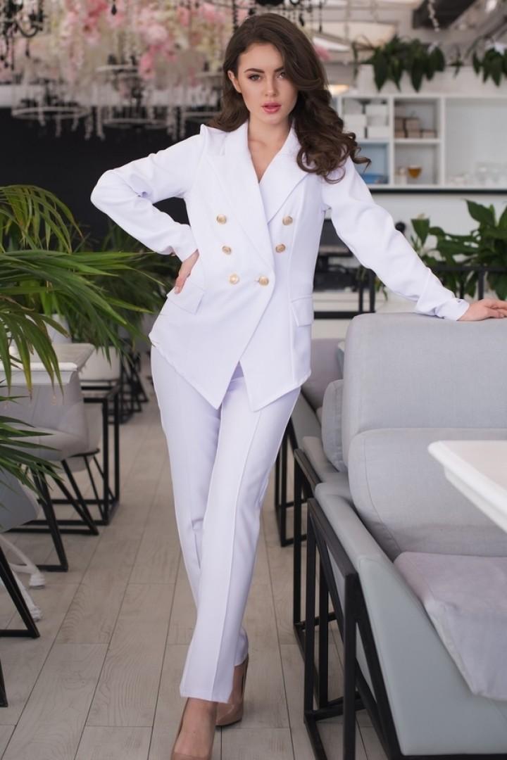 42da9cf1ae29 Стильный деловой брючный костюм женский JAV-369