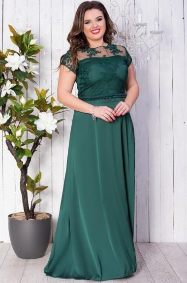 45555e13f55 Комбинированное вечернее платье EY-247