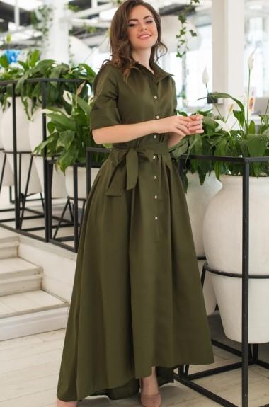 Длинное платье-рубашка в пол JAV-359