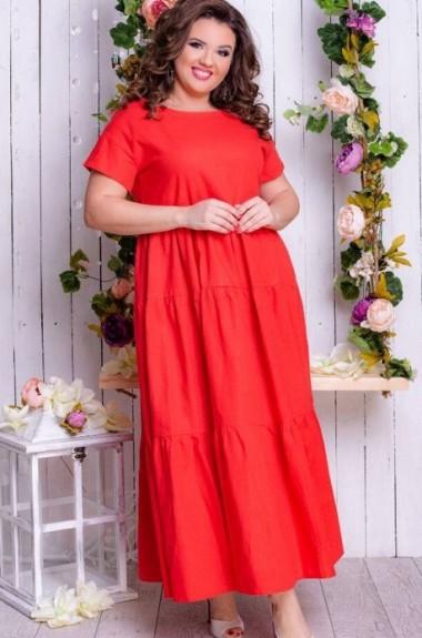 Яркое длинное платье KR-3451