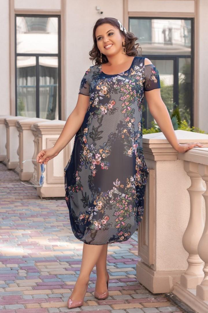 Платье миди из шифона AO-1922A500