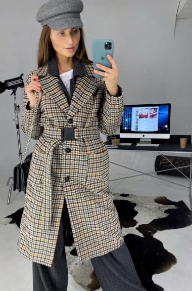 Твидовое пальто женское LDD-235A1150