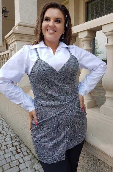 Белая блузка с жилетом YM-5006.3366A15B16