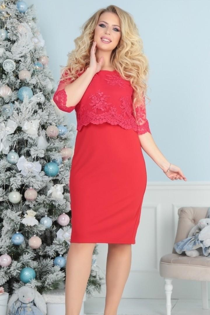 Красивое платье с вышивкой PRAT-2152.2153