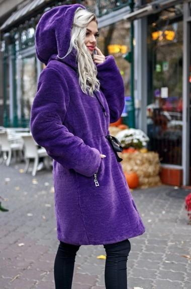 Шуба женская с капюшоном LIA-7276A27