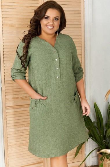 Модное льняное платье DV-R4089A260
