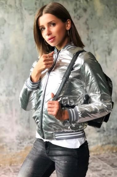 Блестящая куртка женская VT-280819A300