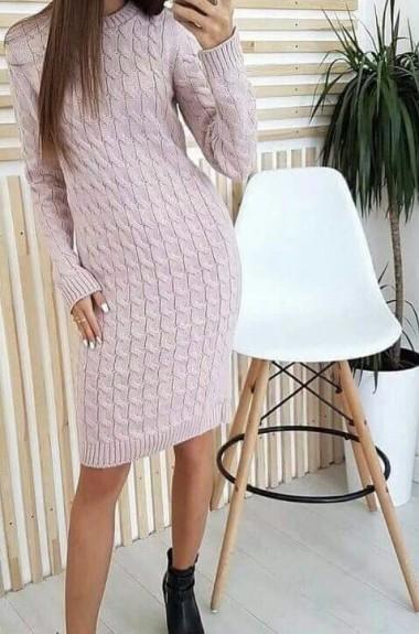 Прямое женское платье с рукавом NAV-0262