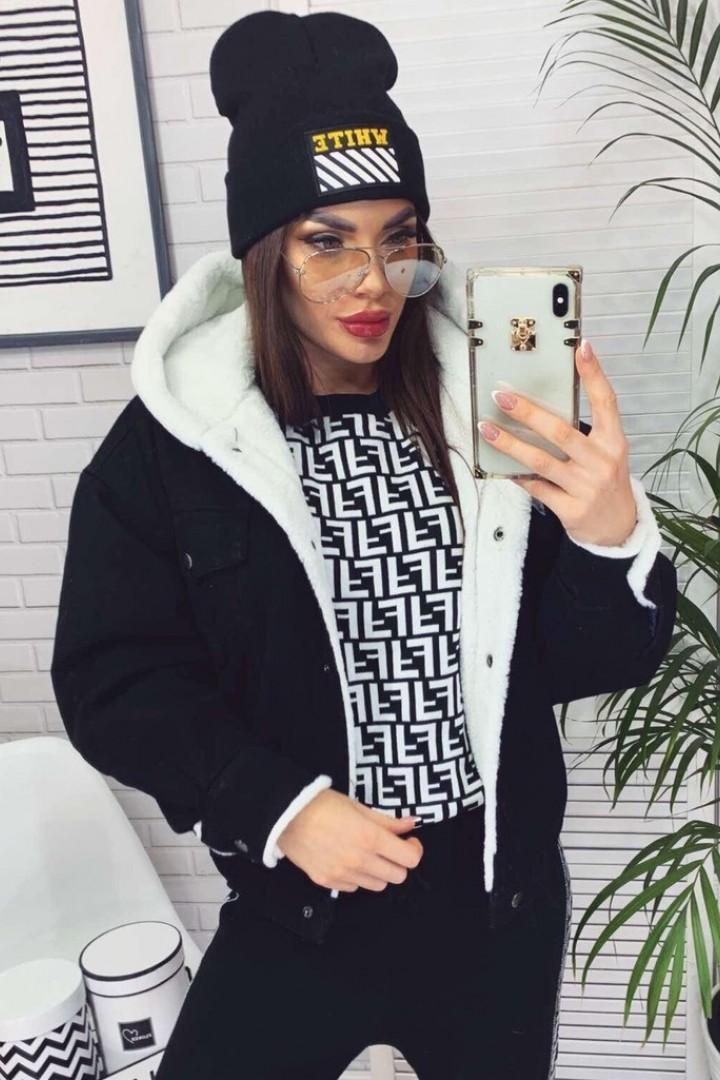 Куртка зимняя короткая с мехом YYAH-3265A1000