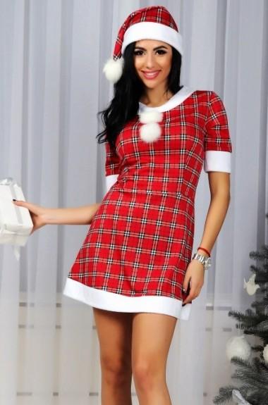 Новогодний костюм снегурочки POK-146A360