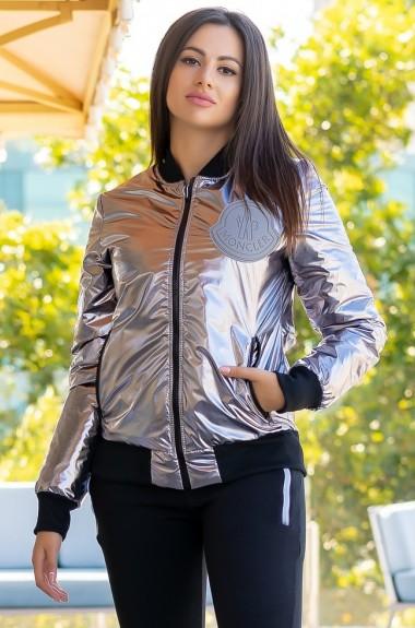 Блестящая куртка женская RO-2276.5238A16B19