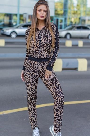 Леопардовый спортивный костюм AM-1467A17